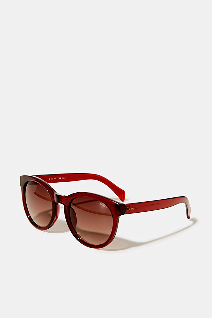 Sunglasses with transparent frame, BROWN, detail image number 0