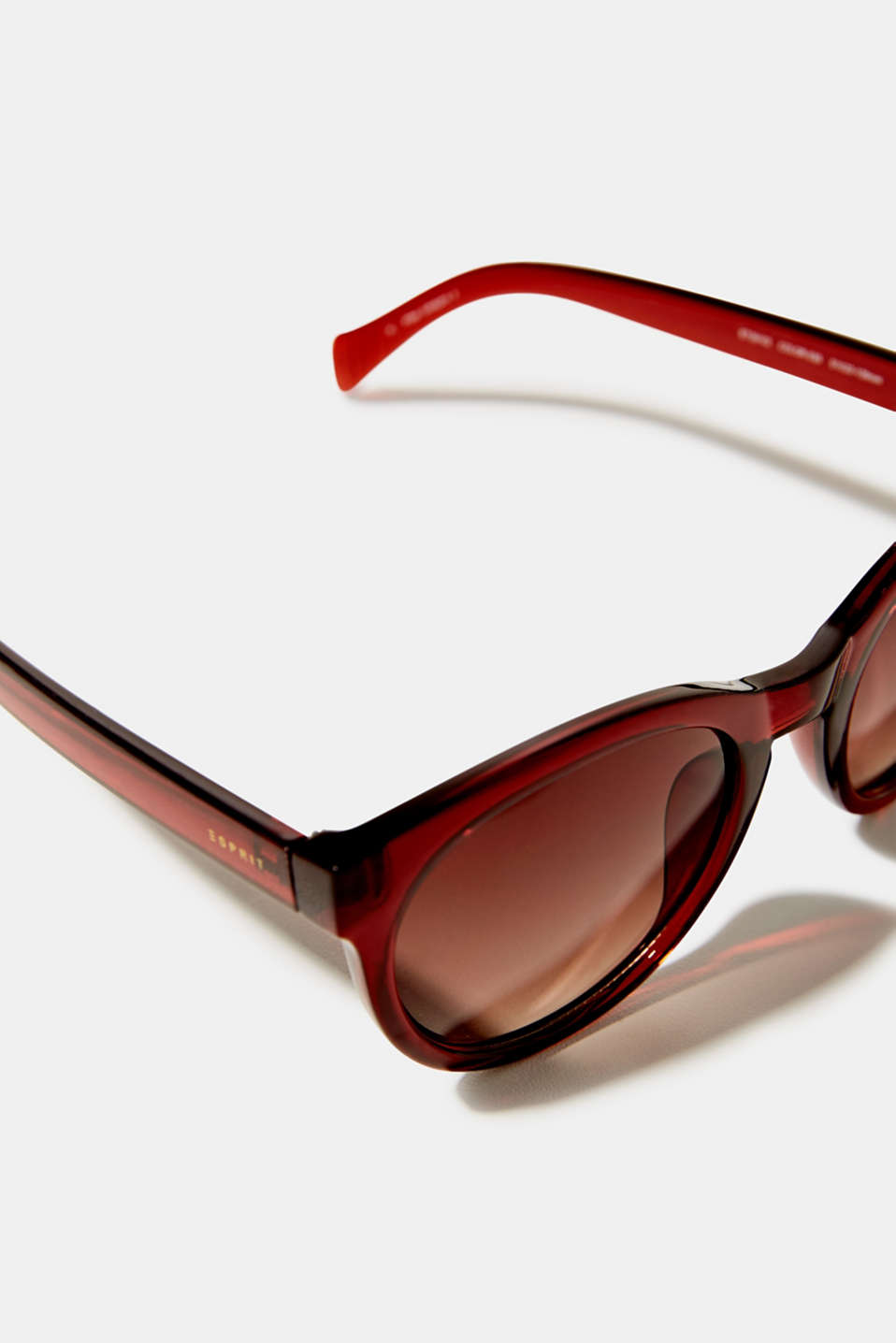 Sunglasses with transparent frame, LCBROWN, detail image number 1