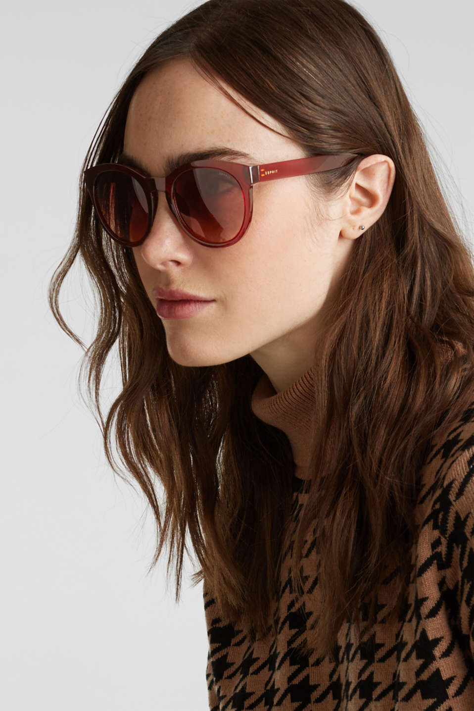 Sunglasses with transparent frame, LCBROWN, detail image number 2