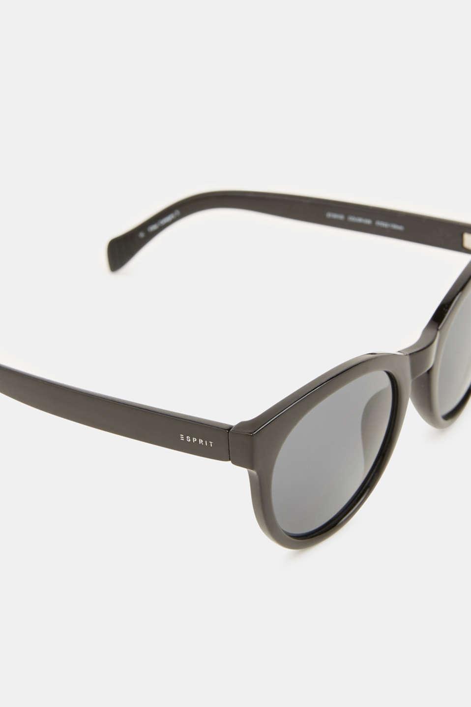 Sunglasses with transparent frame, LCBLACK, detail image number 1