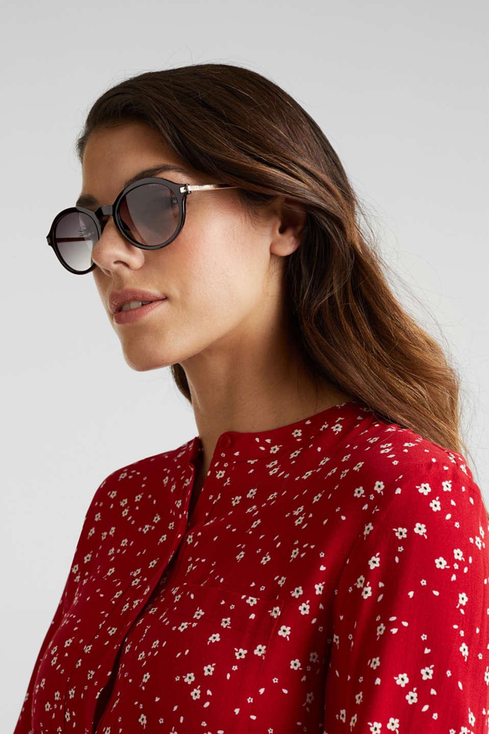 Graduated colour sunglasses, LCBLACK, detail image number 2