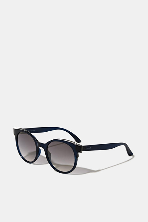 Sunglasses with metal accents