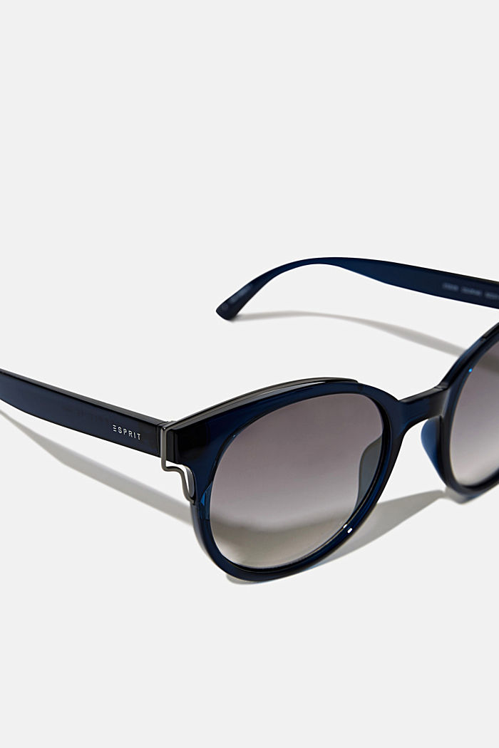 Sunglasses with metal accents, BLUE, detail image number 1