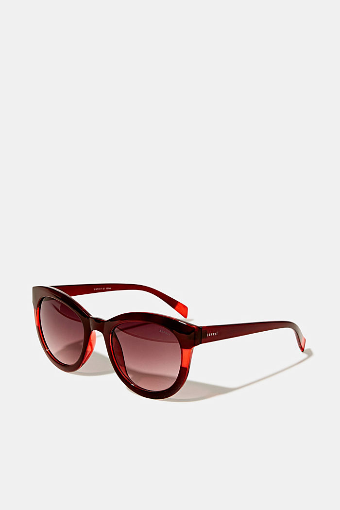Sunglasses with a transparent stripe, RED, detail image number 0