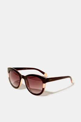 Sunglasses with a transparent stripe, BROWN, detail