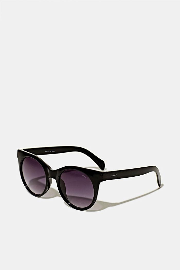 Sonnenbrille mit transparentem Rahmen, BLACK, detail image number 0