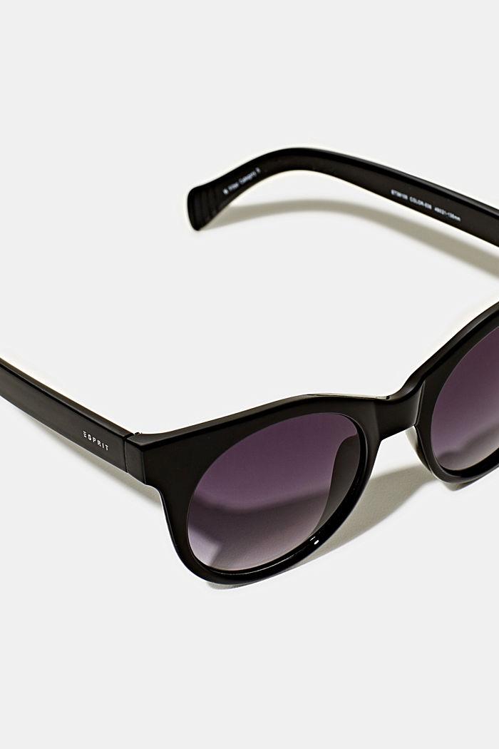 Sonnenbrille mit transparentem Rahmen, BLACK, detail image number 1