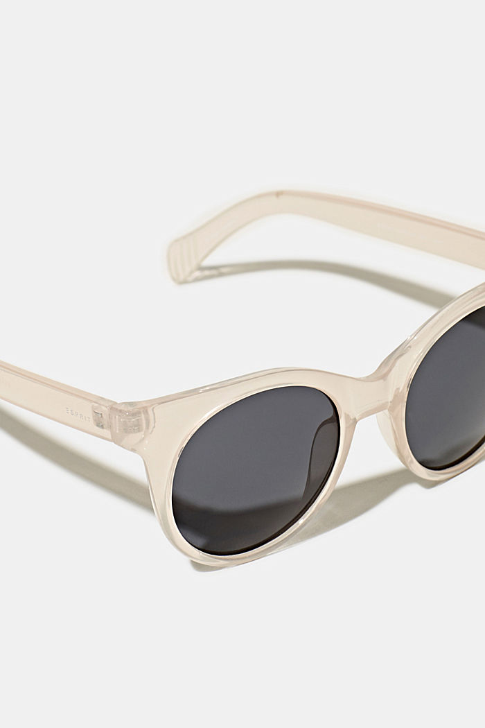 Sunglasses with transparent frame, BEIGE, detail image number 1