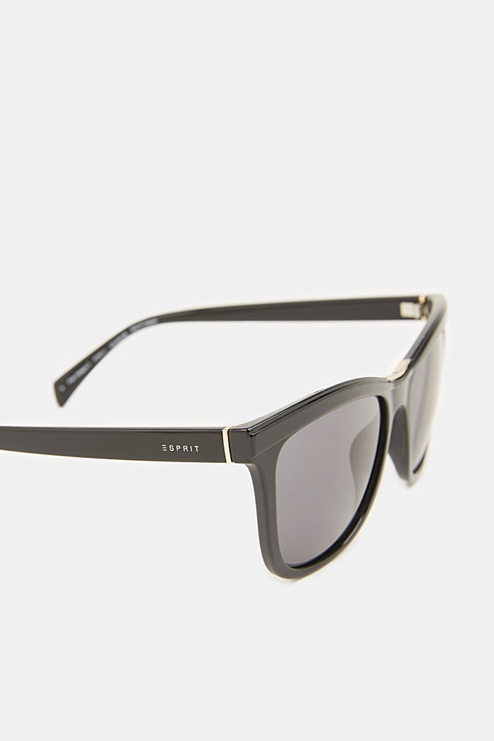 Sunglasses with a metal detail, BLACK, detail image number 3