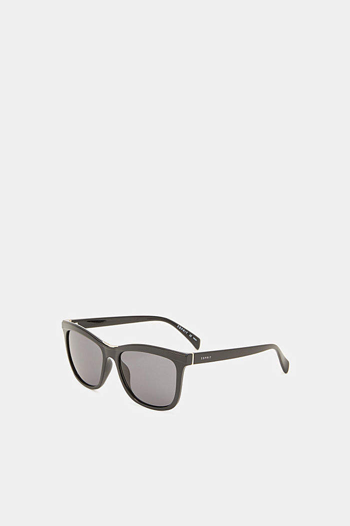 Sunglasses with a metal detail, BLACK, detail image number 1