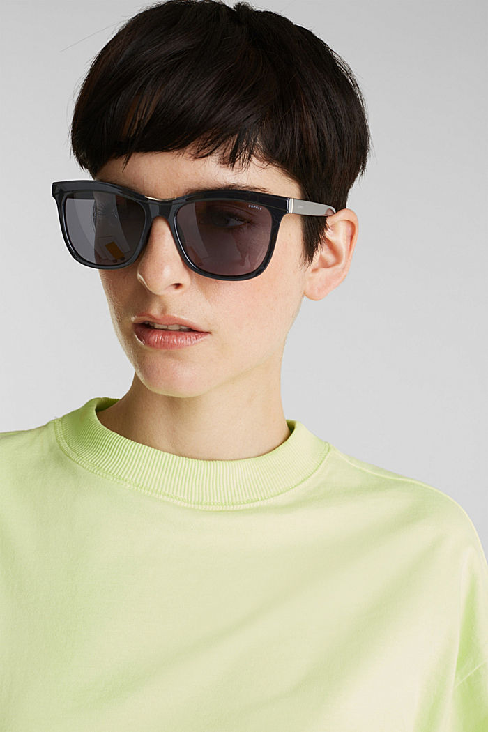 Sunglasses with a metal detail, BLACK, detail image number 2