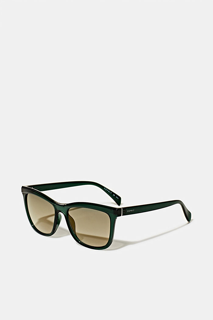 Sonnenbrille mit Metall-Detail, GREEN, overview