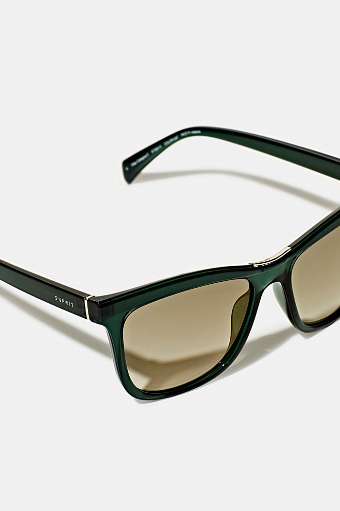 Sunglasses with a metal detail, GREEN, detail image number 1