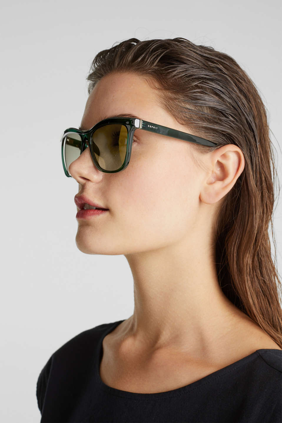Sunglasses with a metal detail, LCGREEN, detail image number 2