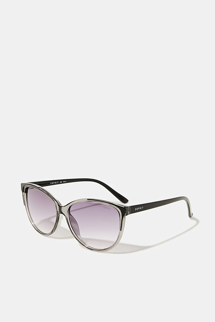 Sunglasses with transparent frame, GREY, detail image number 0