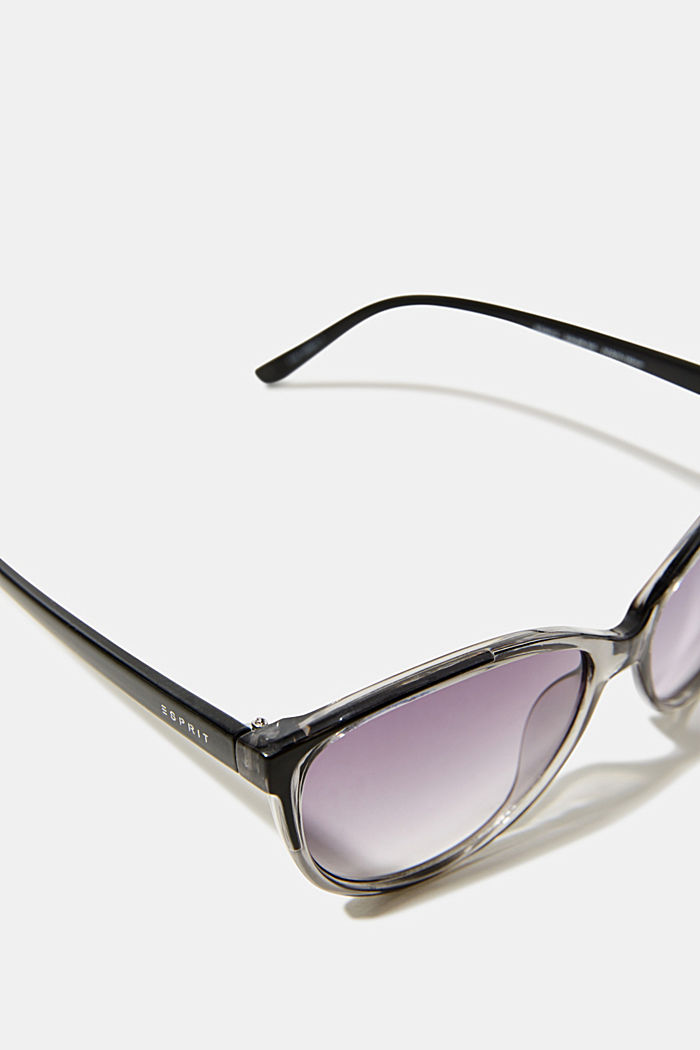 Sunglasses with transparent frame, GREY, detail image number 1