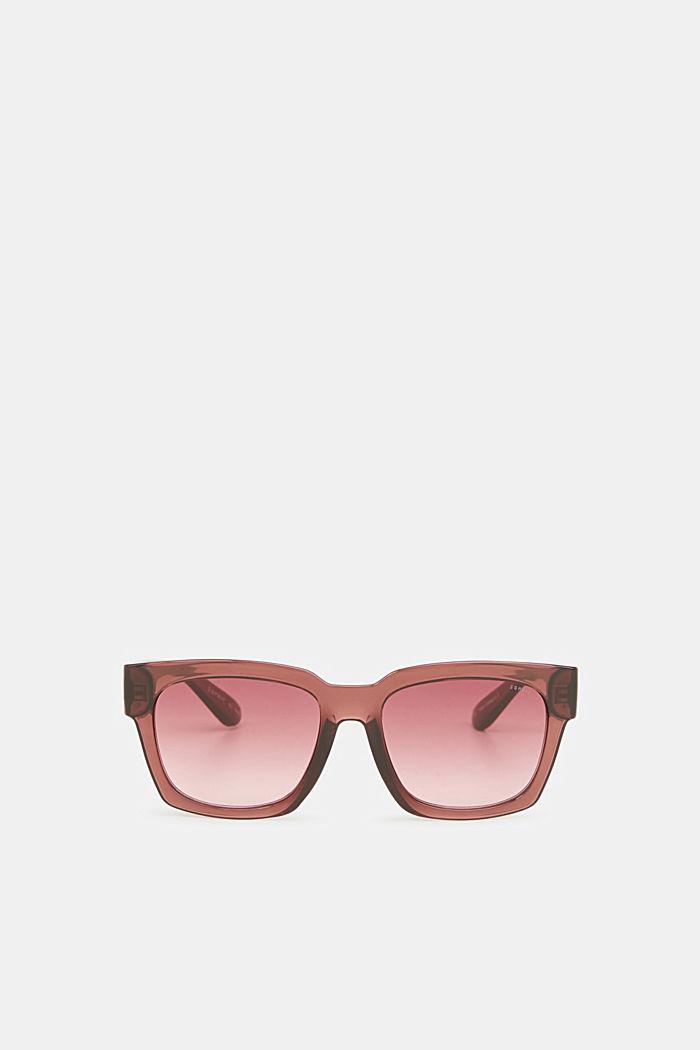 Sonnenbrille mit transparentem Rahmen, CRANBERRY, detail image number 0