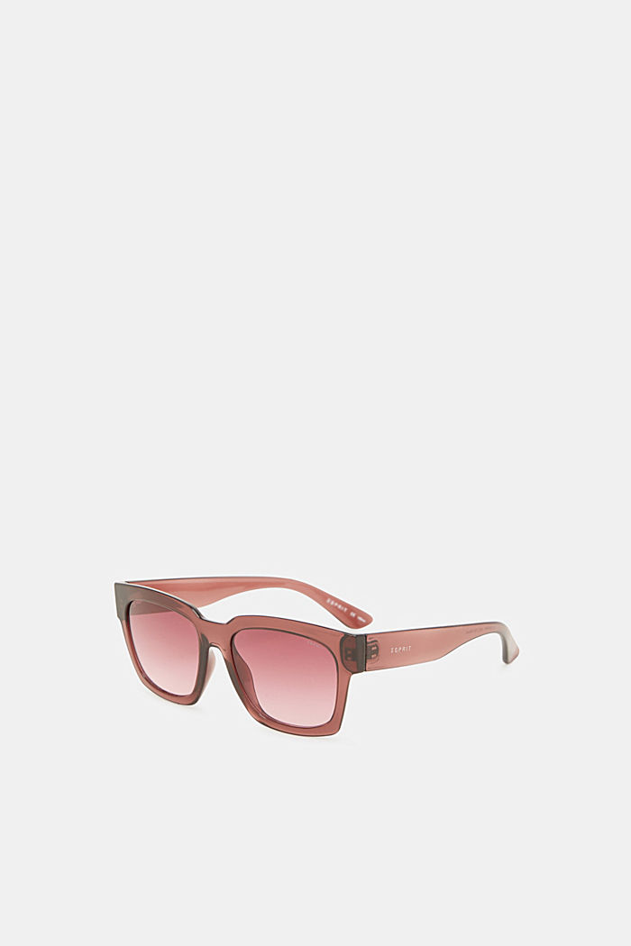 Sunglasses with transparent frame, CRANBERRY, detail image number 3