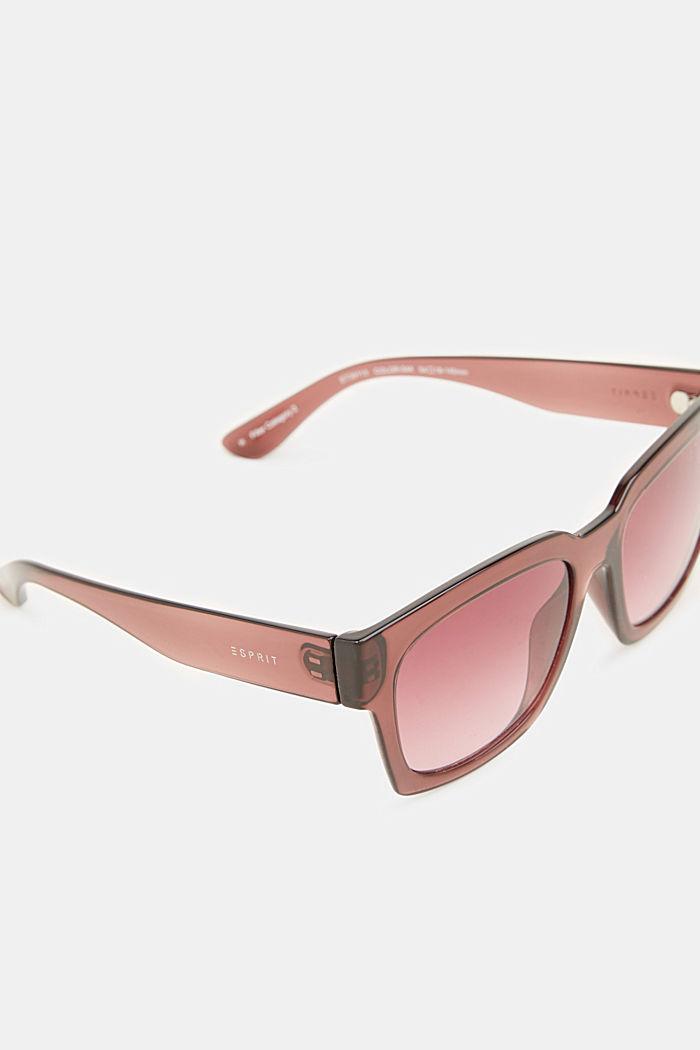 Sonnenbrille mit transparentem Rahmen, CRANBERRY, detail image number 1
