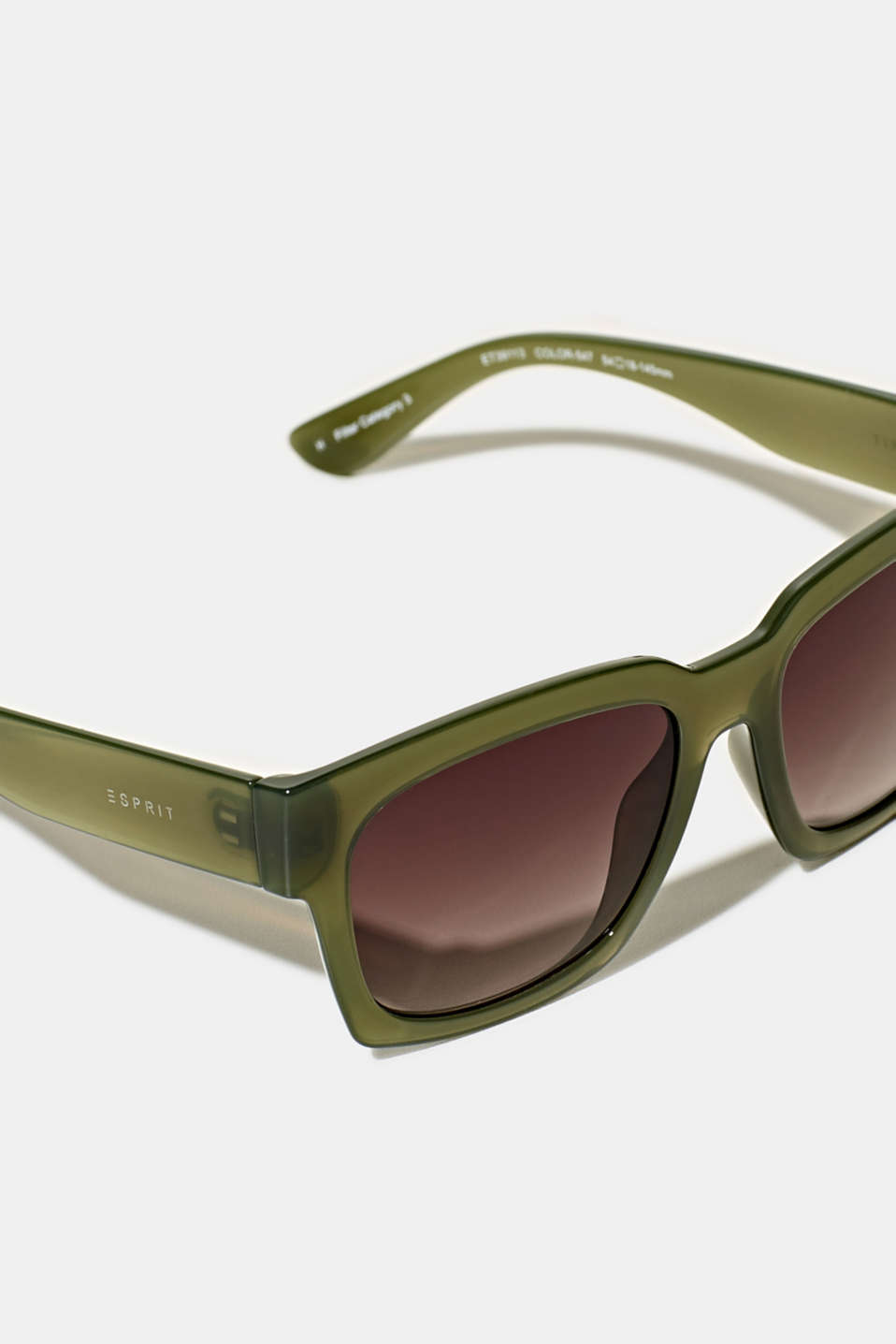 Sunglasses with transparent frame, LCGREEN, detail image number 1