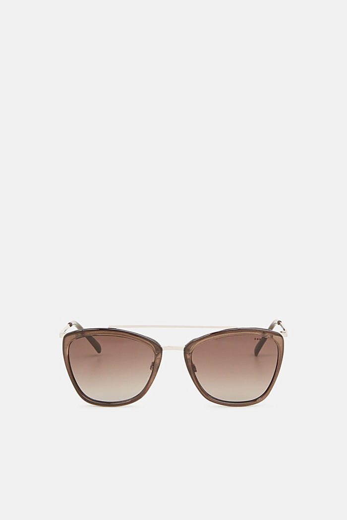 Sunglasses with a metal bridge, GREY, detail image number 0