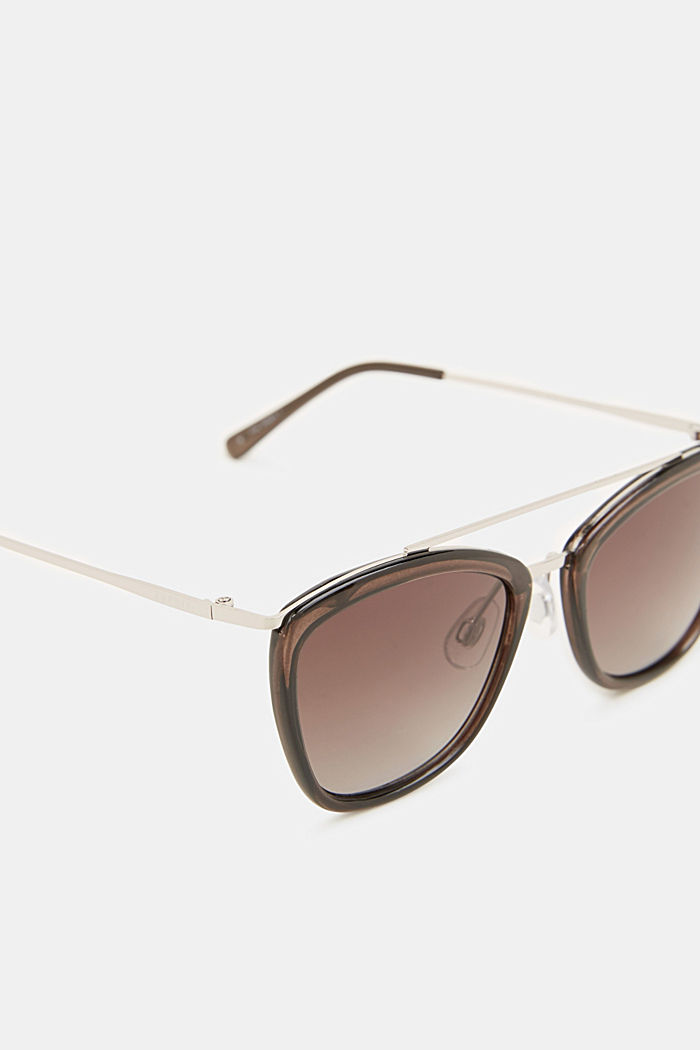 Sunglasses with a metal bridge, GREY, detail image number 1
