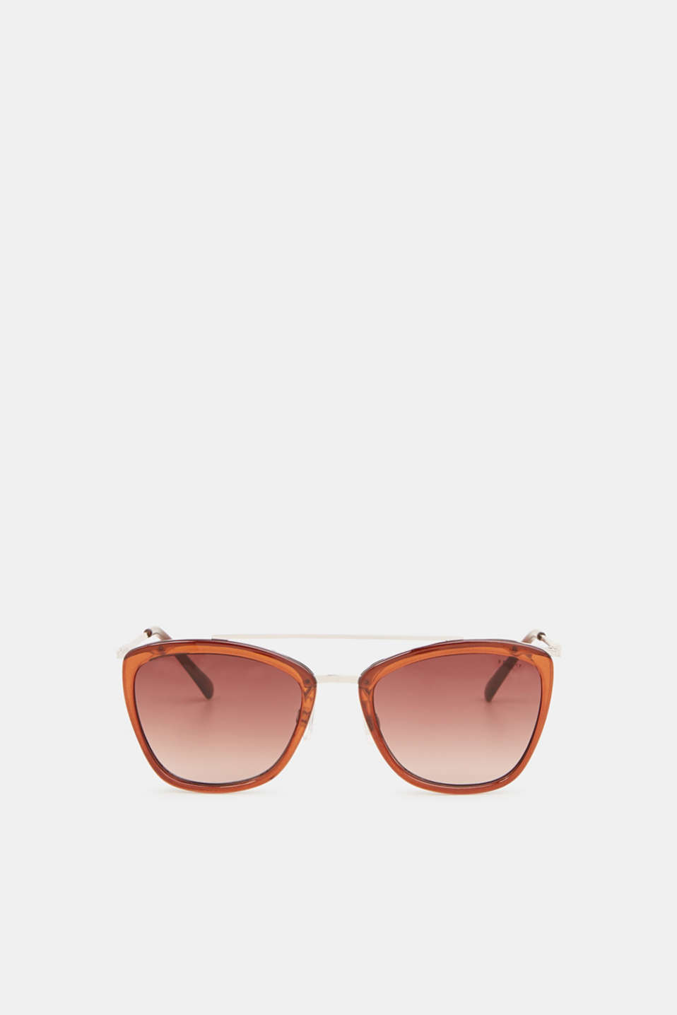 Sunglasses with a metal bridge, LCBROWN, detail image number 0