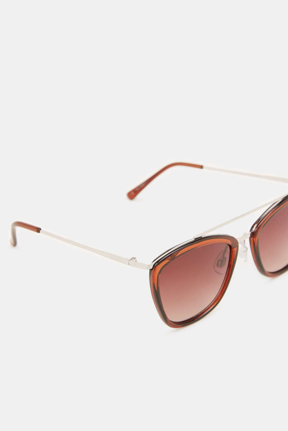 Sunglasses with a metal bridge, LCBROWN, detail image number 1