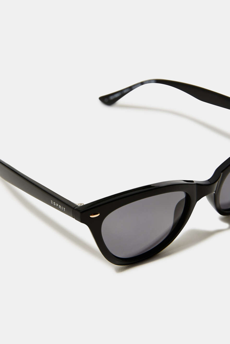 Sunglasses in a narrow cat-eye design, LCBLACK, detail image number 1