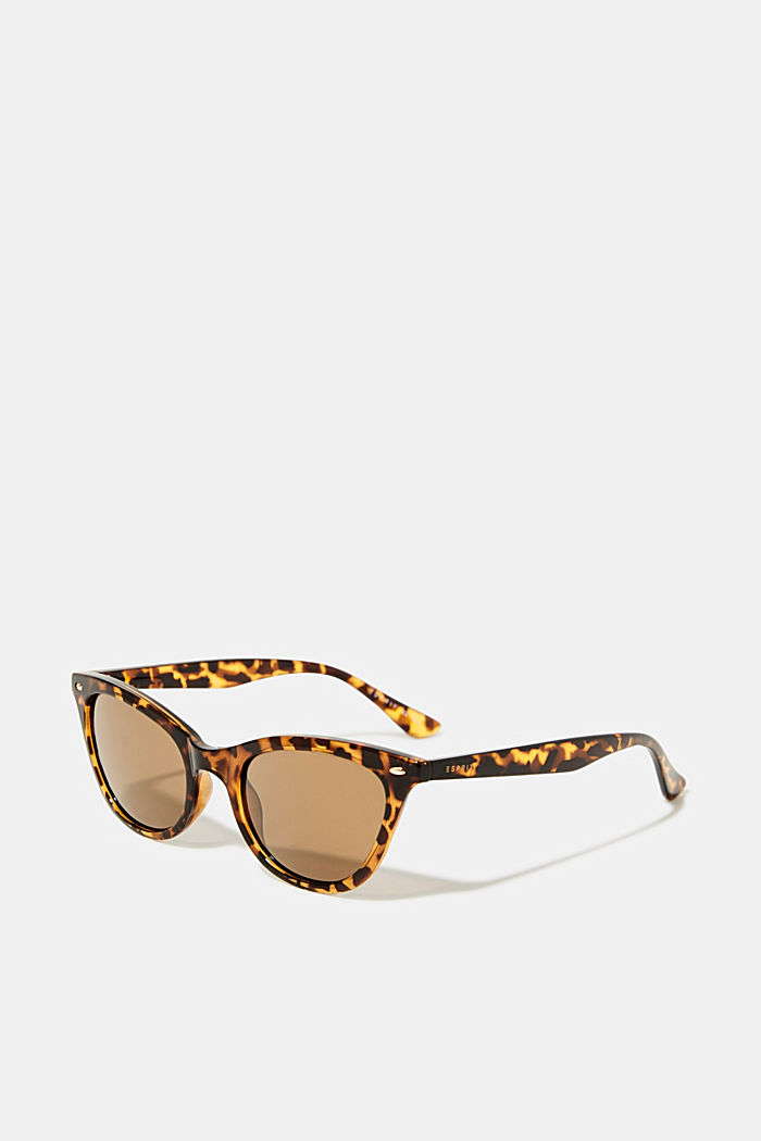 Sunglasses in a narrow cat-eye design, HAVANNA, detail image number 0