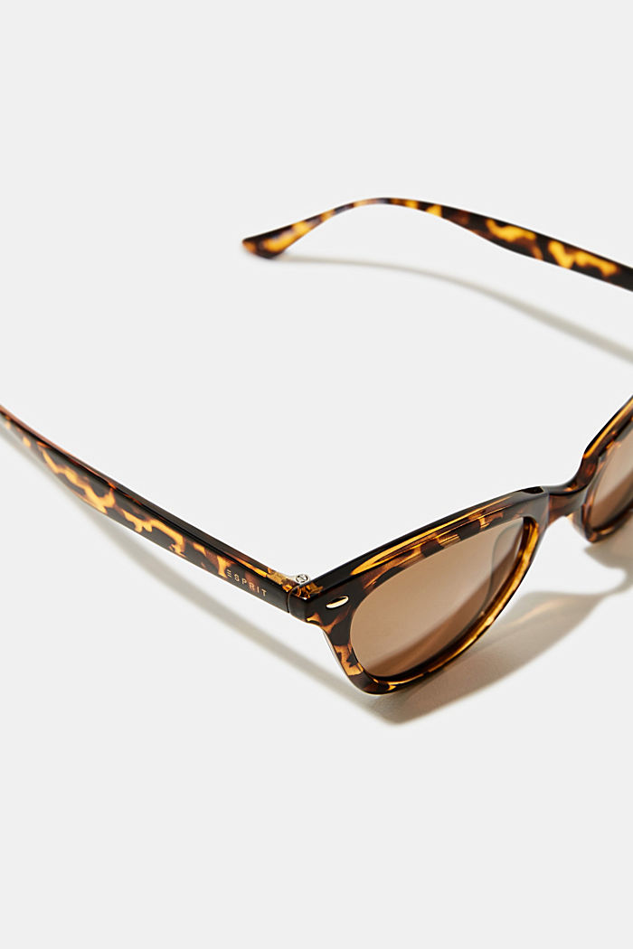 Sunglasses in a narrow cat-eye design, HAVANNA, detail image number 1