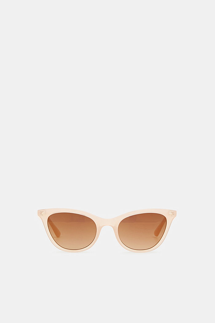 Sunglasses in a narrow cat-eye design, BEIGE, detail image number 0