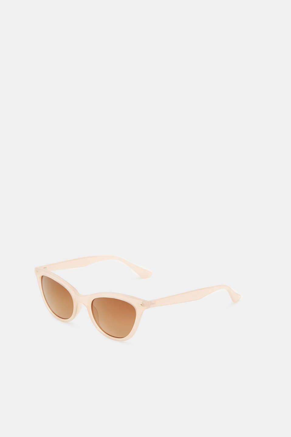 Sunglasses in a narrow cat-eye design, LCBEIGE, detail image number 3