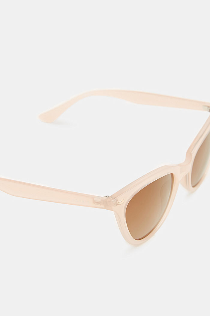 Sunglasses in a narrow cat-eye design, BEIGE, detail image number 1