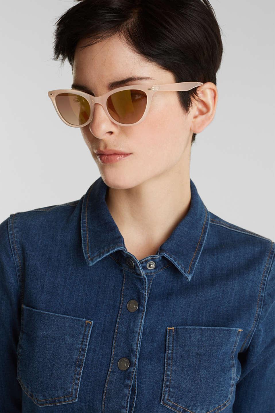 Sunglasses in a narrow cat-eye design, LCBEIGE, detail image number 2