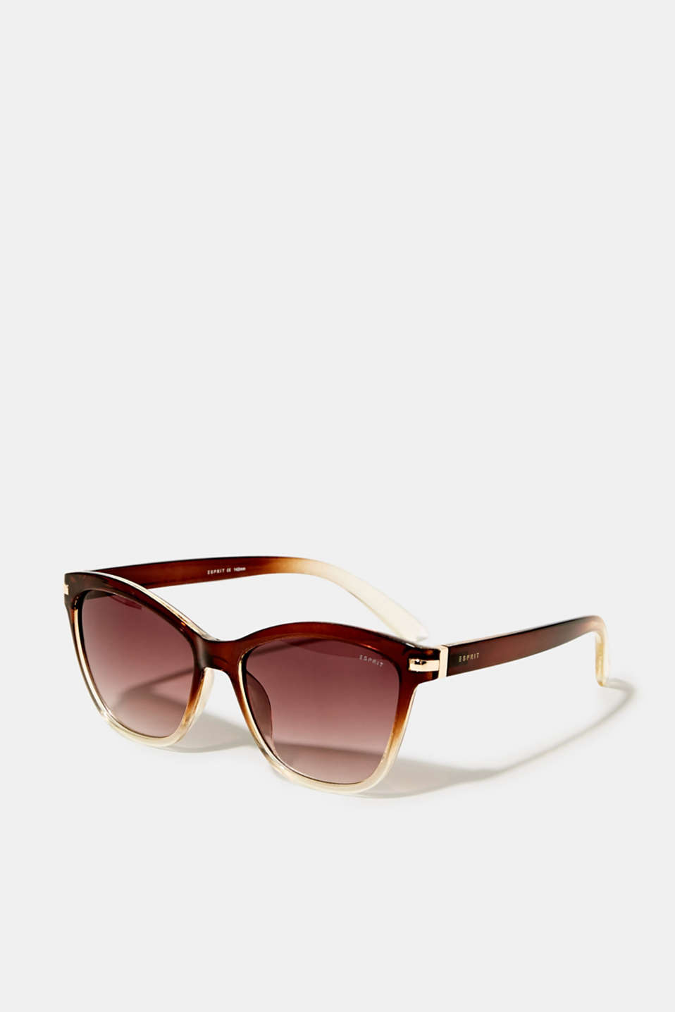 Sunglasses with metal temples, LCBROWN, detail image number 0