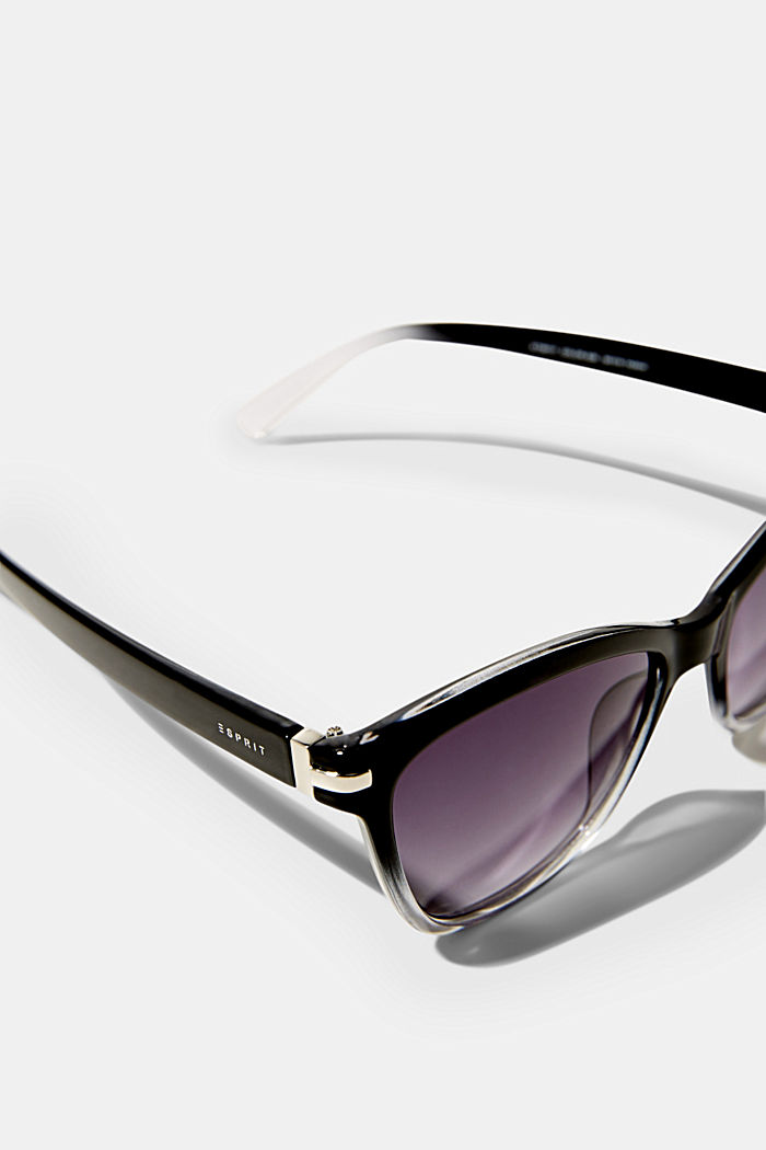 Sunglasses with metal temples, BLACK, detail image number 1