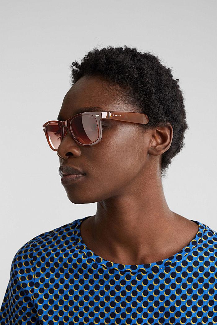 Plastic sunglasses, BROWN, detail image number 2