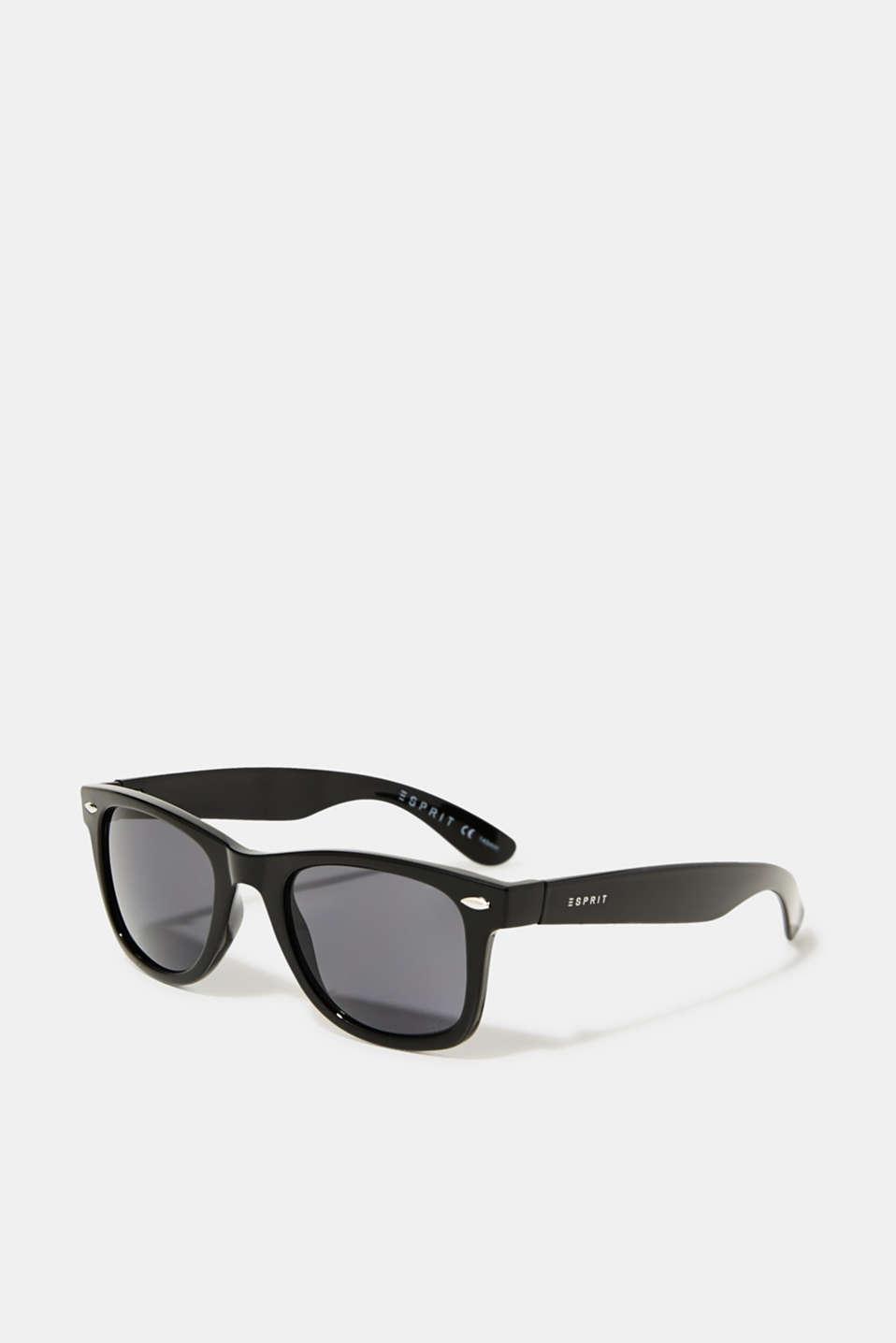 Plastic sunglasses, LCBLACK, detail image number 0