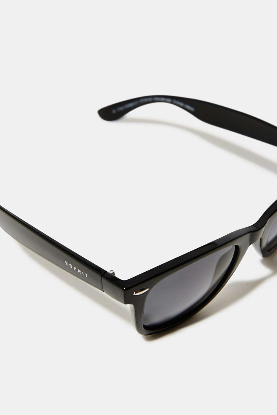 Plastic sunglasses, LCBLACK, detail image number 1