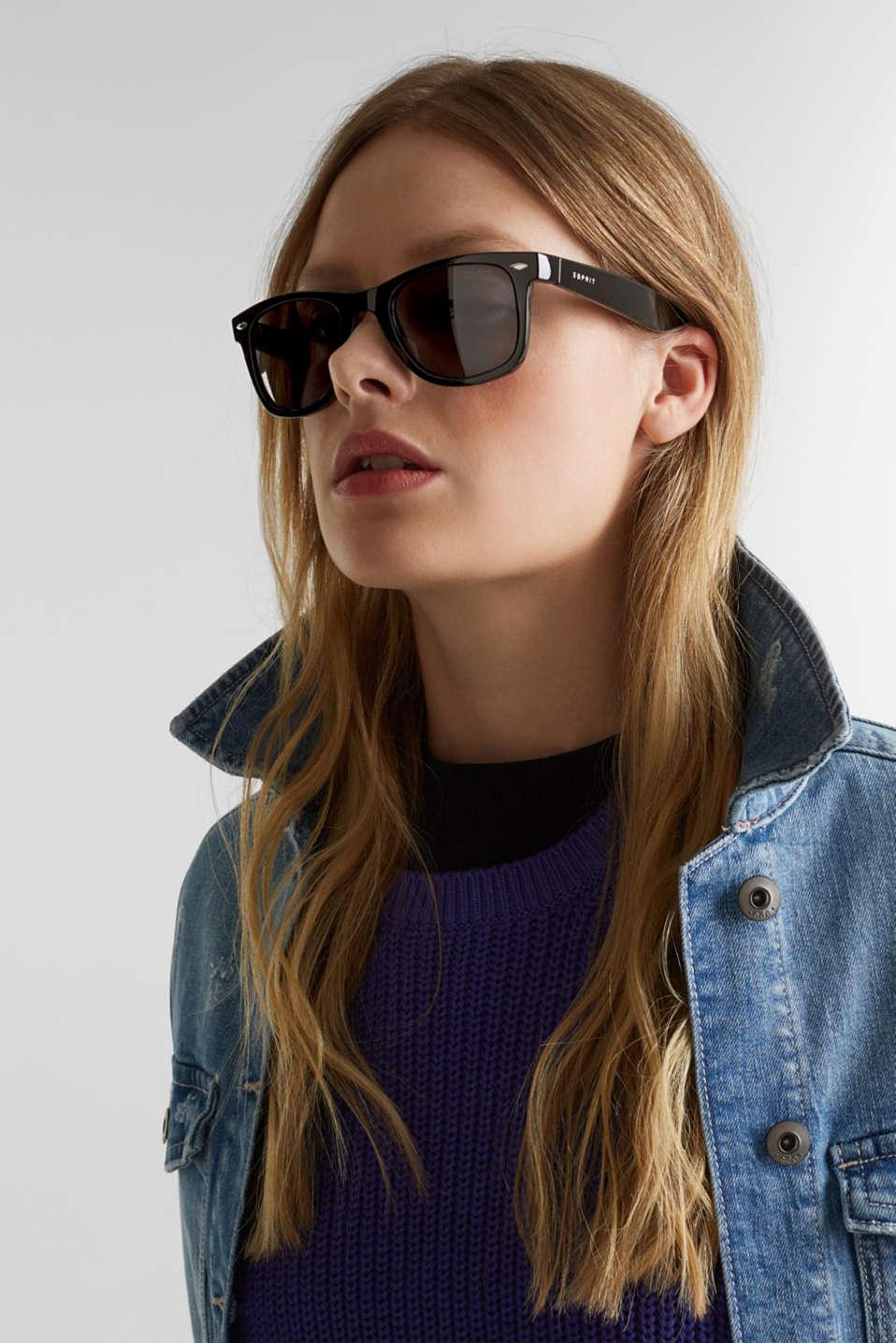 Plastic sunglasses, LCBLACK, detail image number 2