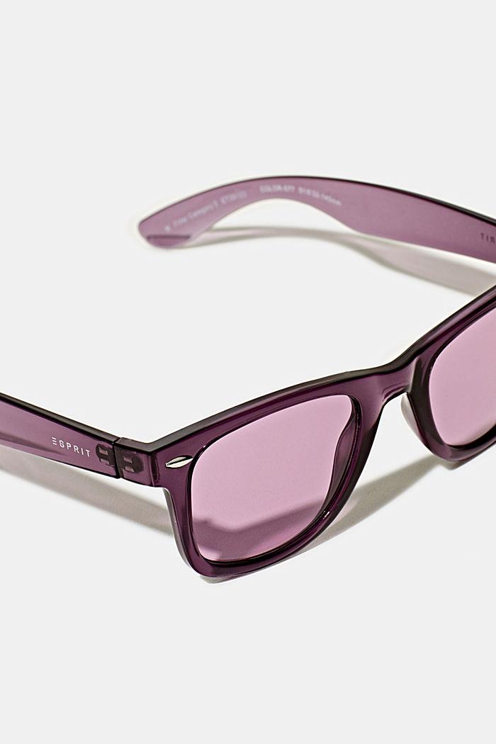 Sonnenbrille aus Kunststoff, PURPLE, detail image number 1