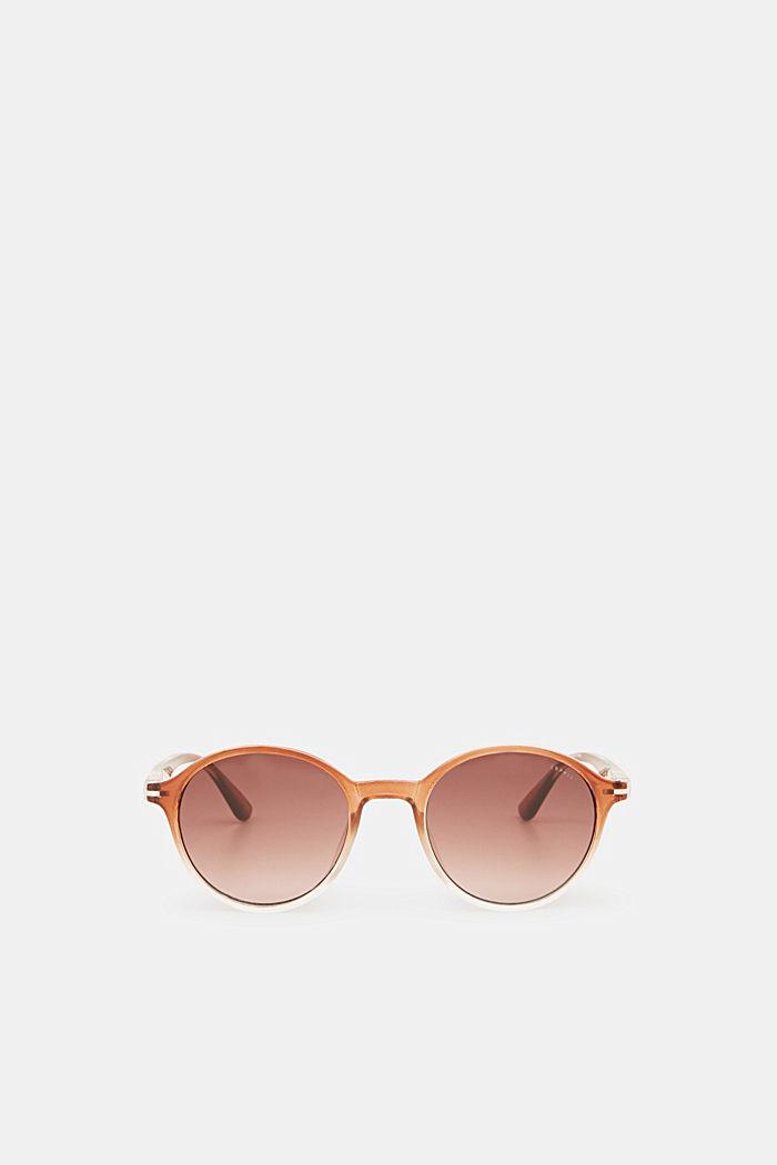 Sonnenbrille mit transparentem Rahmen, BROWN, detail image number 2