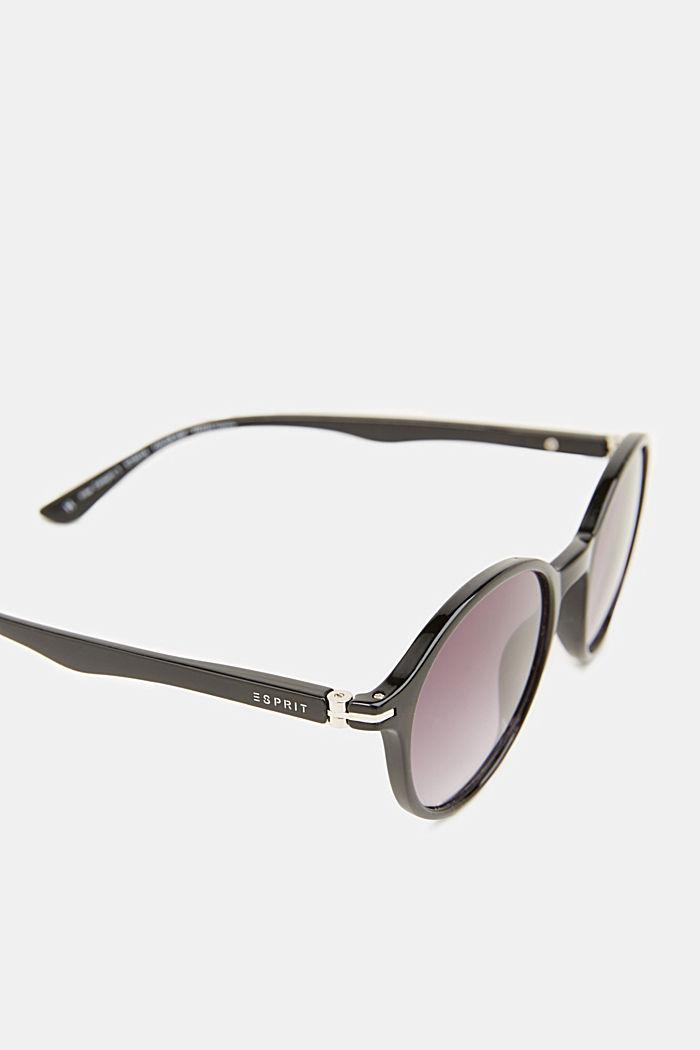 Sunglasses with transparent frame, BLACK, detail image number 1