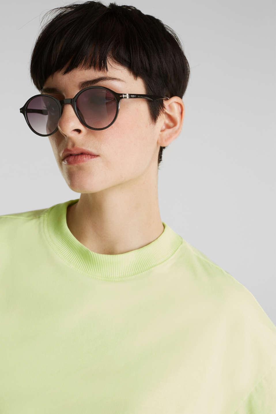 Sunglasses with transparent frame, LCBLACK, detail image number 2