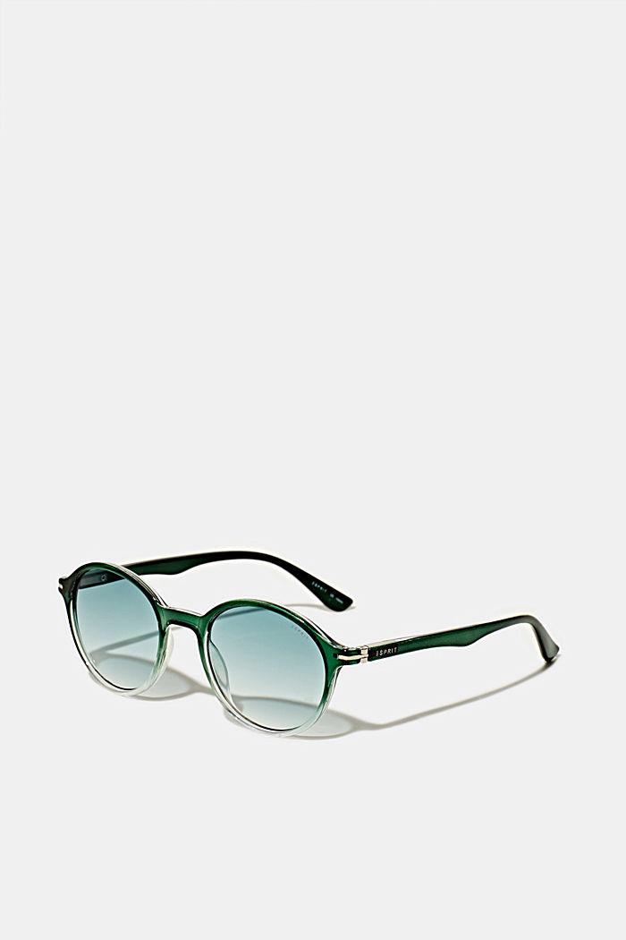 Sonnenbrille mit transparentem Rahmen