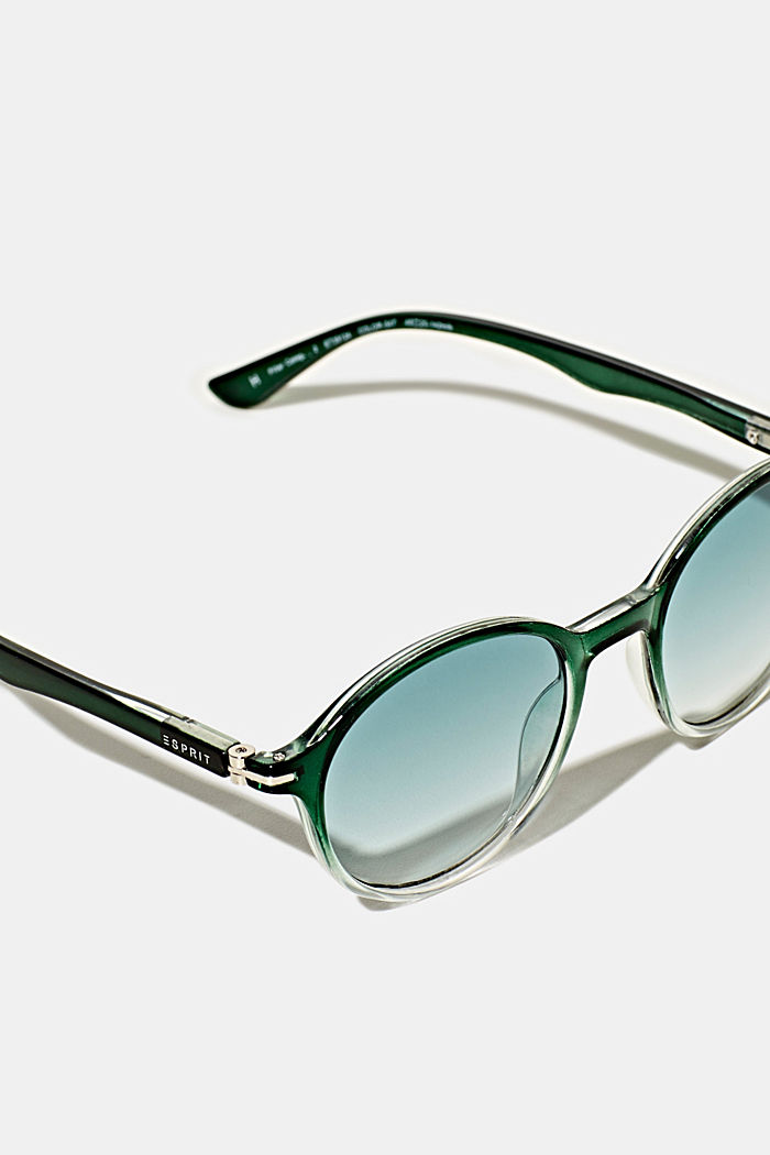 Sunglasses with transparent frame, GREEN, detail image number 1
