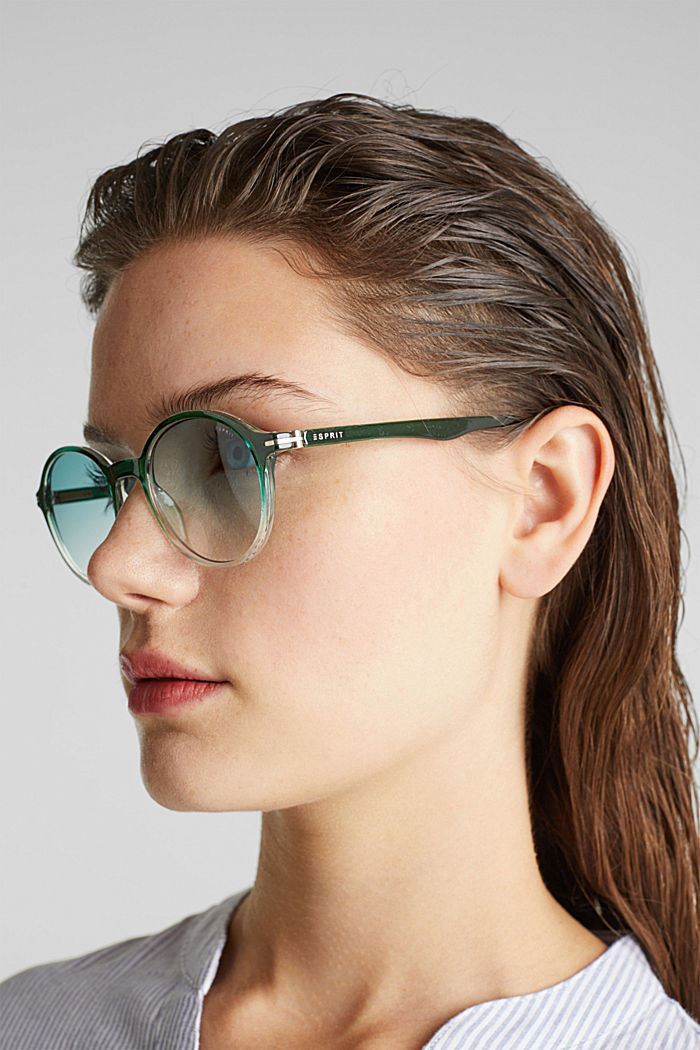 Sunglasses with transparent frame, GREEN, detail image number 2