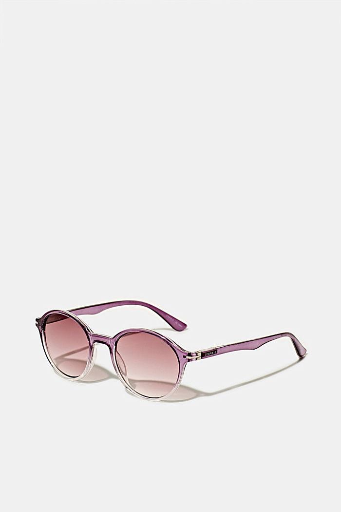 Sonnenbrille mit transparentem Rahmen, PURPLE, detail image number 0