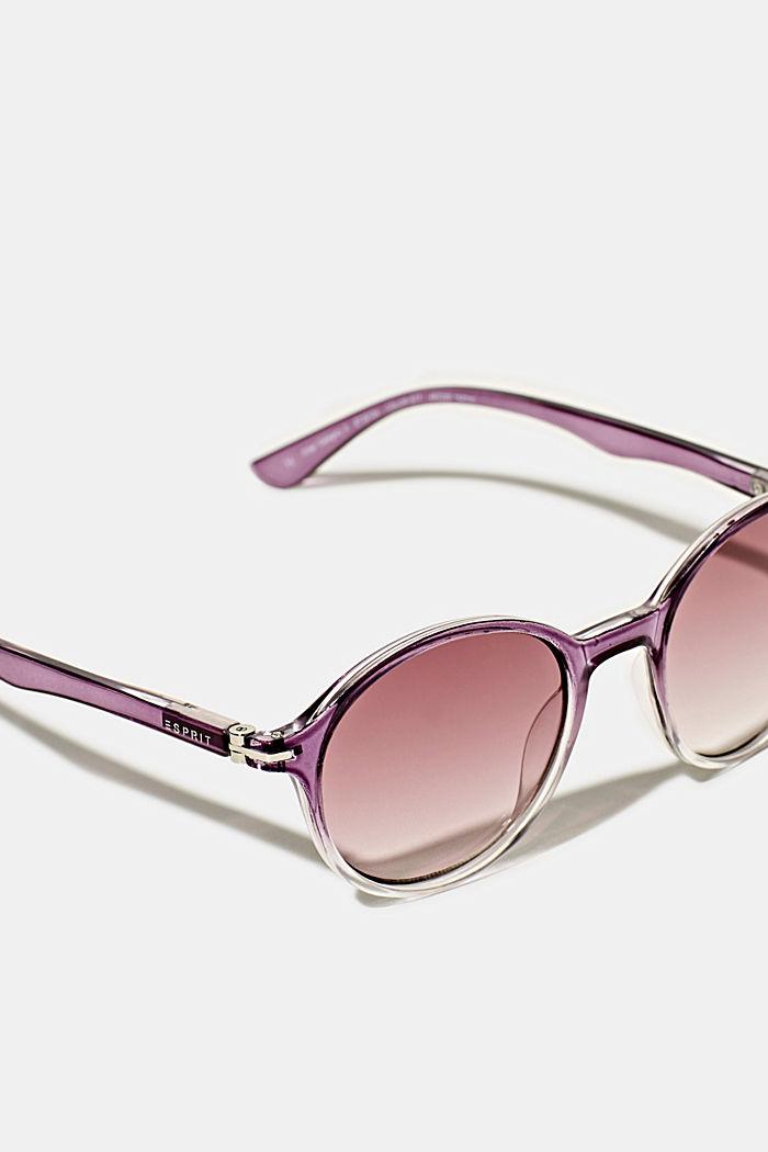 Sonnenbrille mit transparentem Rahmen, PURPLE, detail image number 1